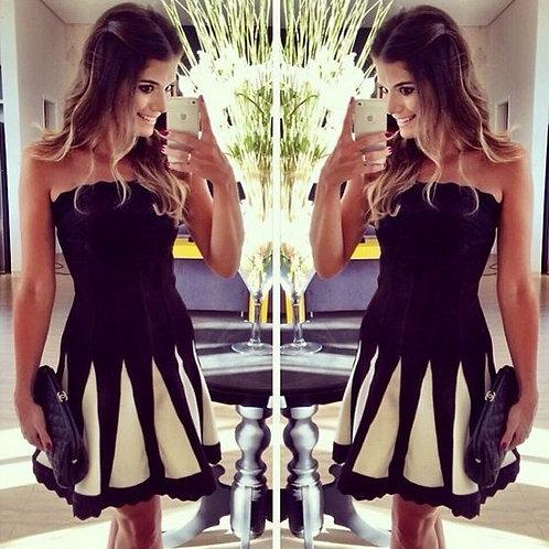 Vestido Preto Fashion  FG 784