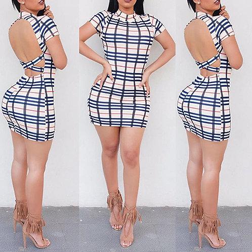 Vestido Sensual Xadrez FG 4447