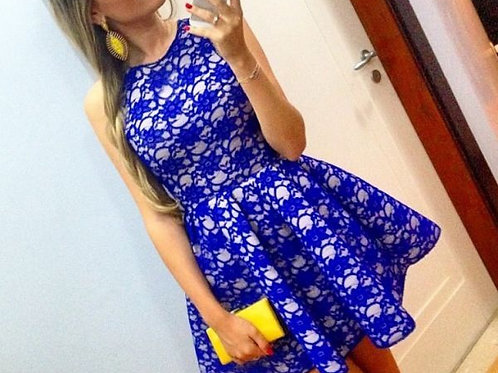 Vestido Azul Fashion  FG 1030