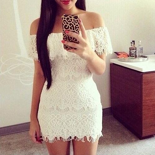 Vestido de Renda Branco - FG 705