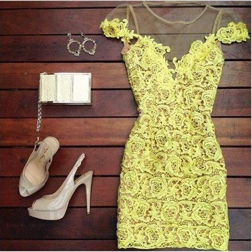 Vestido de Renda Floral FG 764