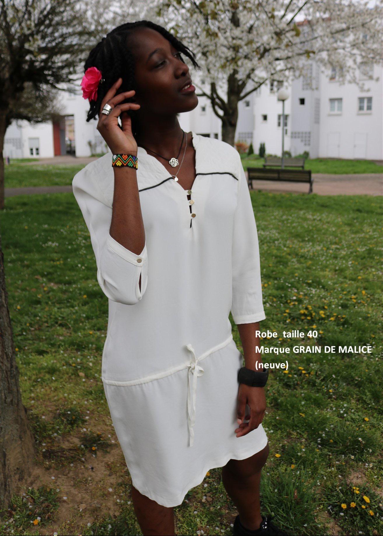 shooting robe été blanche action vers l'espoir