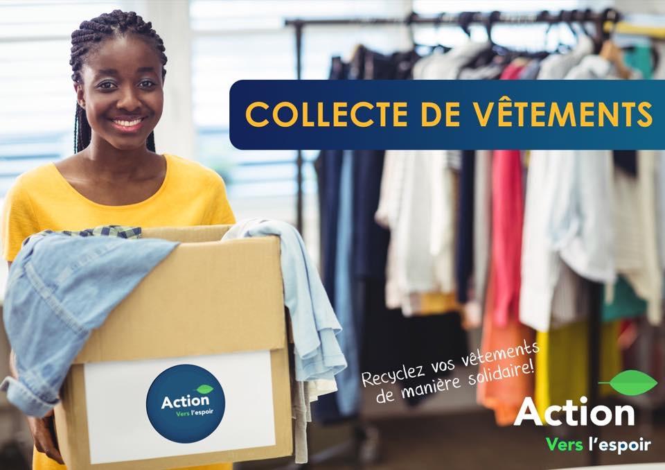 affiche collecte vêtements