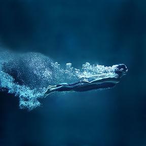 Unterwasser-Tauch