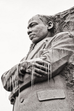 Martin Luther King in ice