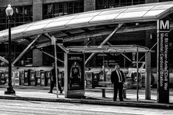 Waiting at the D.C. Metro