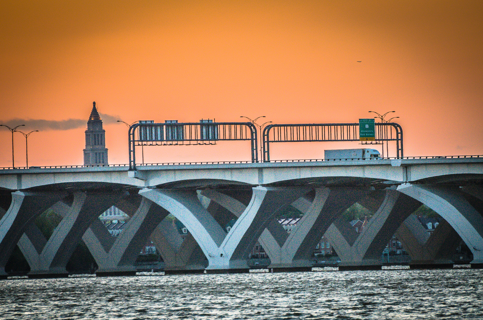Sunset at the Wilson Bridge