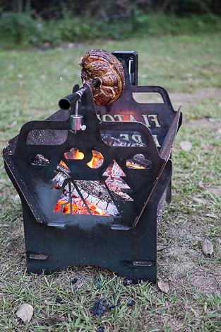 Flatout Fire Pit, Flatpack fire pit, flat pack, camping, BBQ, fire pit, flat fire pit, cotton tree meats, flat pack