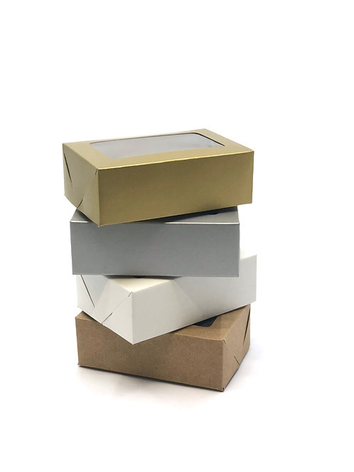 Caixas De Presente VR2: 9x6x4cm - Com Visor/ Tampa e Fundo ( 20 unid )