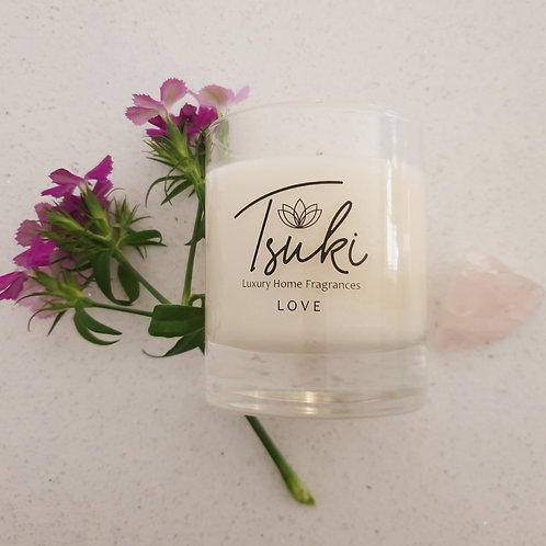 20cl Glass Candle Love
