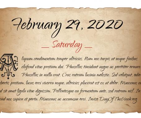 29 בפברואר 2020