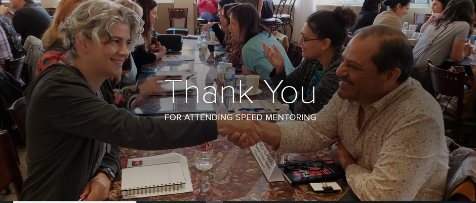 Thank you for attending Speed Mentoring