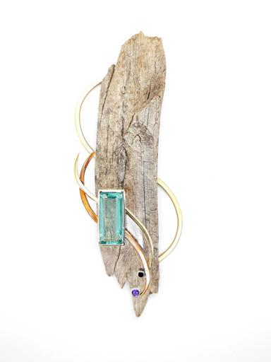 Violet Green Swallow Brooch Display (sold)