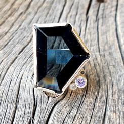 Recycled T.V. Glass Oversized Ring.jpg
