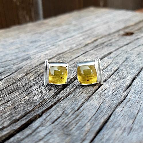 Simple Amber Earrings