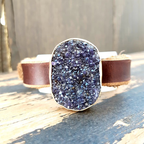 Amethyst Druzy Watch Band