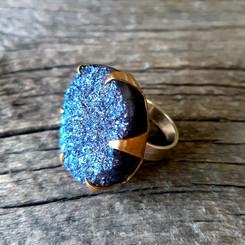 Titanium Druzy Ring