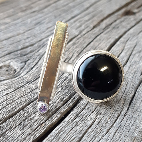 Onyx Double Finger Ring