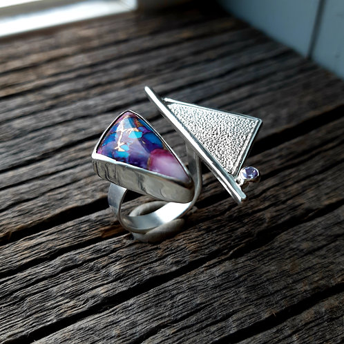 Turquoise/Spiny Oyster Composite Ring