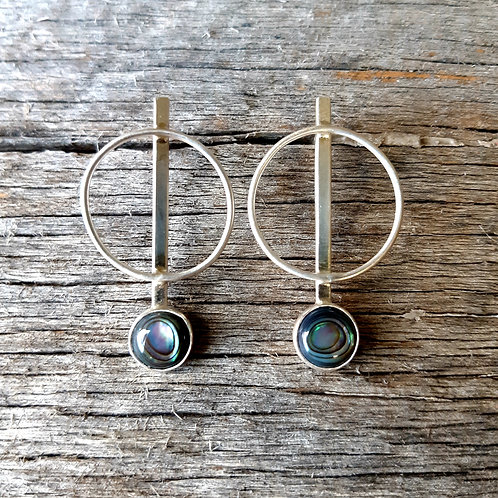 Abalone Circle Earrings