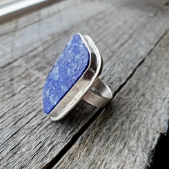 Lapis Lazuli Druzy Ring