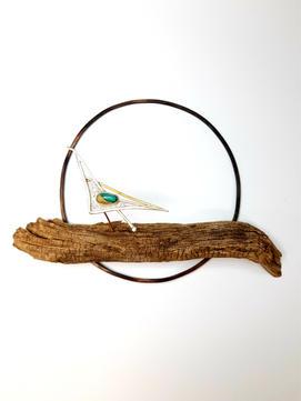 Indian Roller Brooch Display