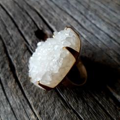 Oversized Quartz Druzy Ring