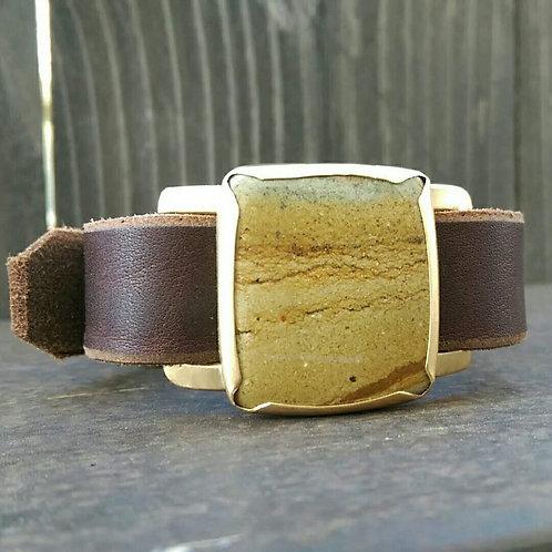 Honey Crunch Jasper Watch Band