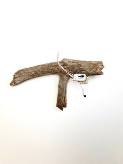 Black Capped Chickadee Brooch Display (sold)