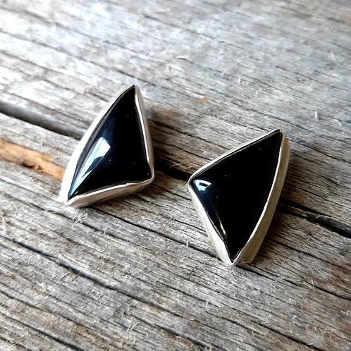 Simple Black Onyx Earrings