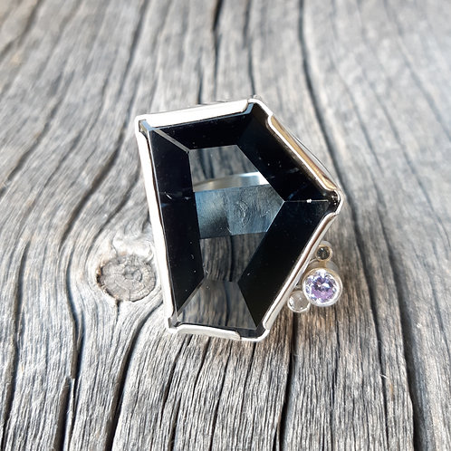 Recycled T.V. Glass Ring