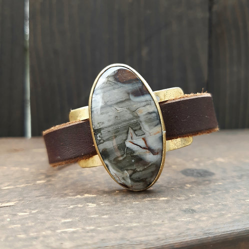 Zebra Jasper Watch Band