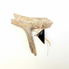 American Crow Brooch Display