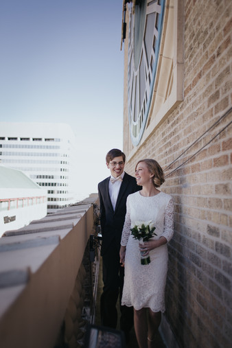 downtown denver clocktower new years wedding elopement