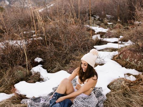 Crisp, Winter Boudoir in Boulder, Colorado