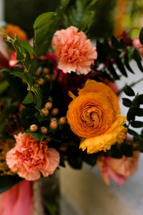 San diego lush and tropical downtown wedding bouquet prep details inspiration vibrant decor