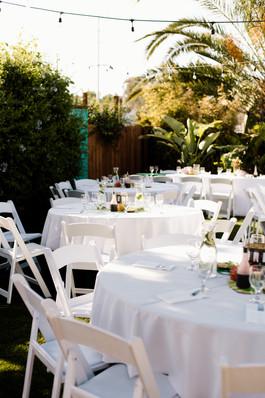 tropical table reception decor inspiration vibrant sushi dinner at downtown san diego wedding coastal decorations