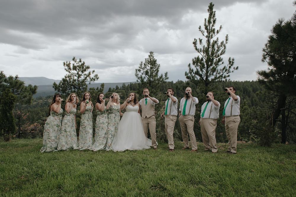 Canyon Crest Lodge mountain top wedding in Pagosa Springs Colorado