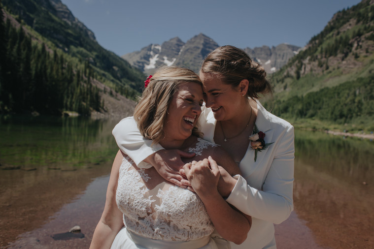 aspen colorado maroon bells intimate elopement wedding