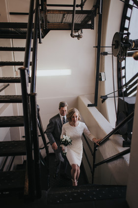 downtown denver clocktower new years wedding elopement