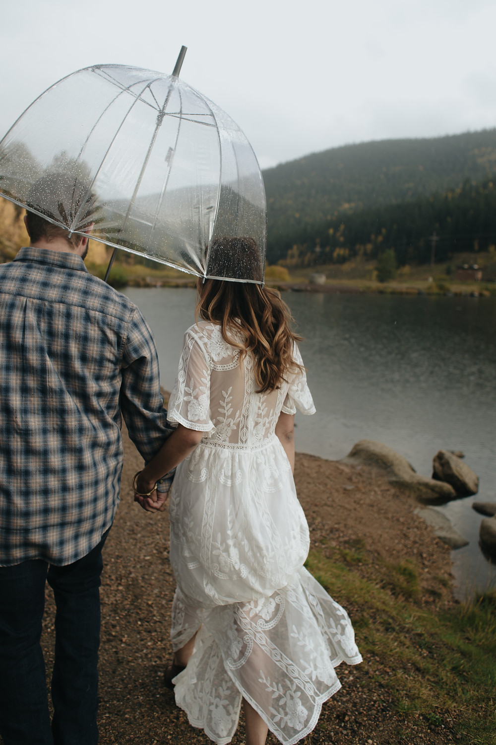 rainy stormy golden gate canyon colorado fall engagement photography