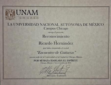 UNAM Chicago 2013