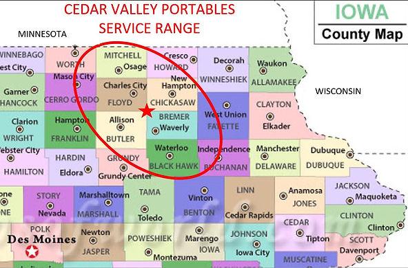 CCedar Valley Portables service map area.JPG