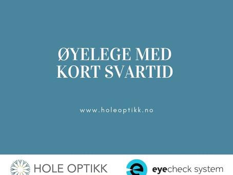 Øyelege med kort svartid