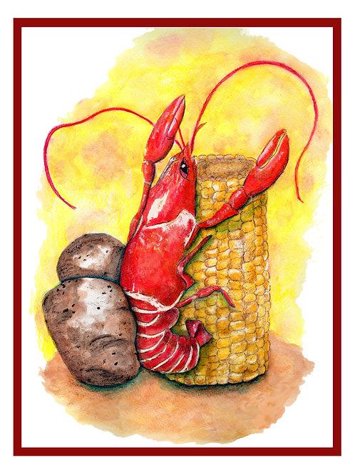 Crawfish Note Card