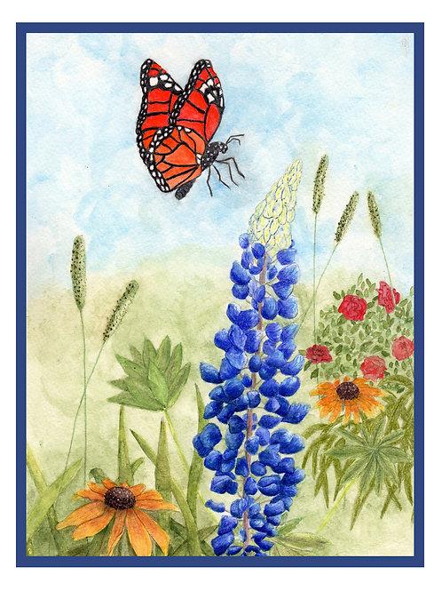 Butterfly Garden Note Card