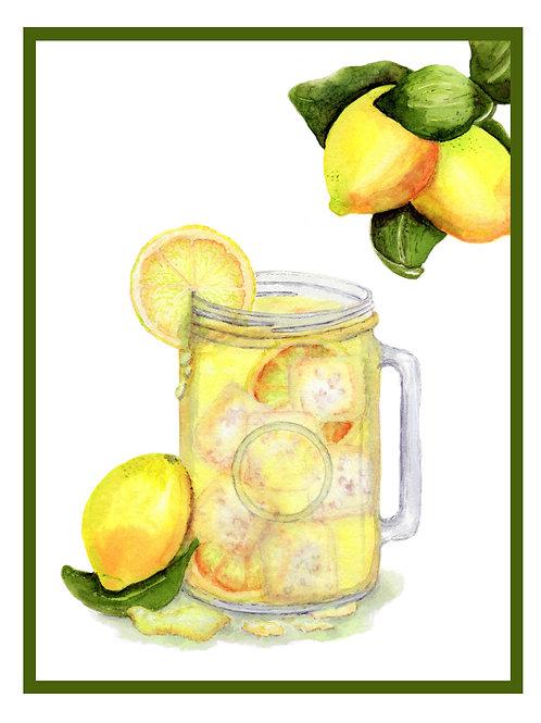 Sweet Lemonade  Note Card