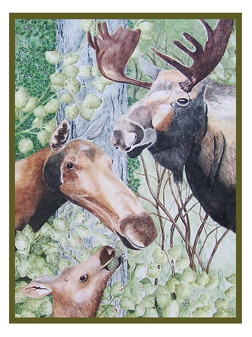 Moose Note Card