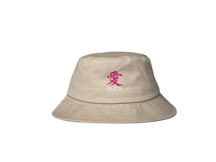 Fuck Love Bucket Hat Khaki