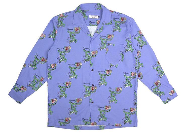 Dragon Rose Open Collar Shirt